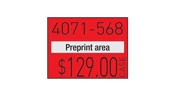Pricing Gun Labels