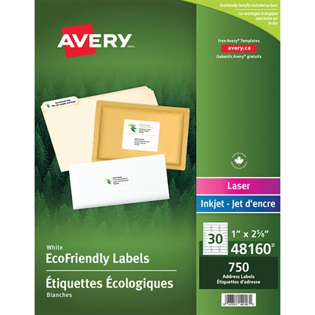 EcoFriendly White Mailing Labels