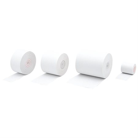 "Cash Register and Calculator Paper Roll Package of 10 1-3 / 4"" x 155' x 3"" dia."