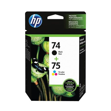 HP 74 / 75 Ink Jet Cartridges Twin Pack