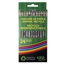 "Crayons de couleur recyclés ""Ecolo"""