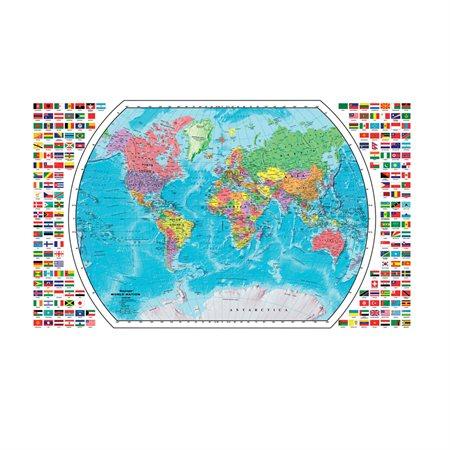 Plastic-coated world map