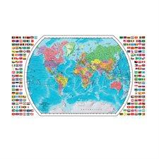 Carte du monde plastifiée