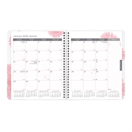 Agenda mensuel Ruban rose (2020)