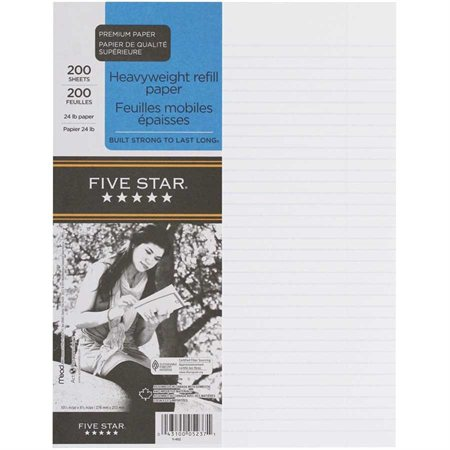 Five Star® Ruled Loose-Leaf Sheets