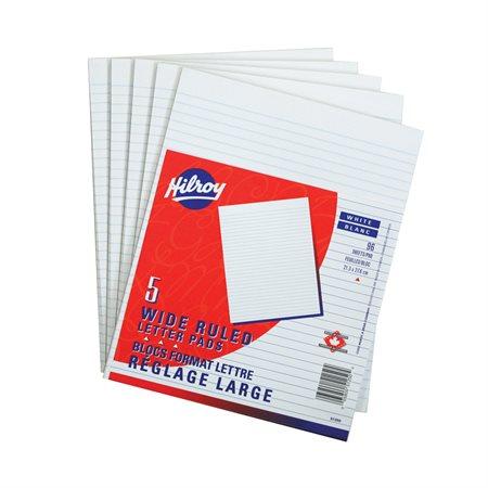 Bloc de papier blanc