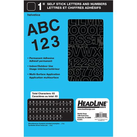 Geosign Vinyl Letters and Numbers