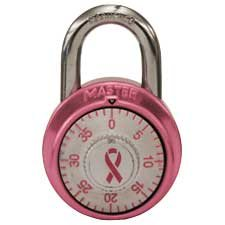 Pink Ribbon Combination Padlock