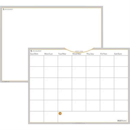 Ensemble pour surface de planification mensuelle auto-adhésive Wallmates®