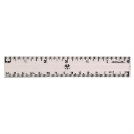 Transparent Rigid Plastic Ruler