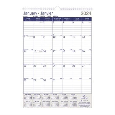 DuraGlobe™ Monthly Wall Calendar (2020