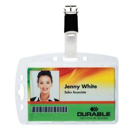 Porte-carte de sécurité avec pince