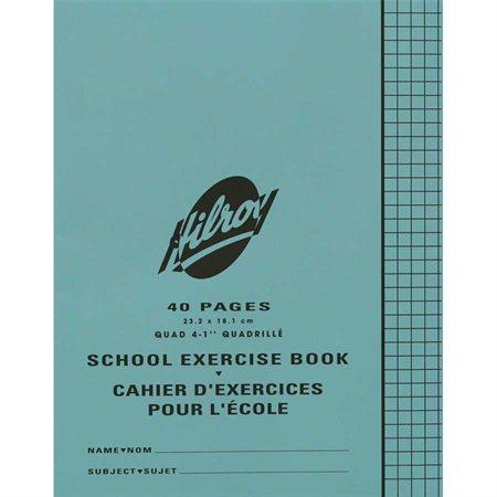 Cahier d'exercices quadrillé