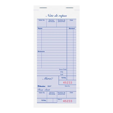 Restaurant Invoices