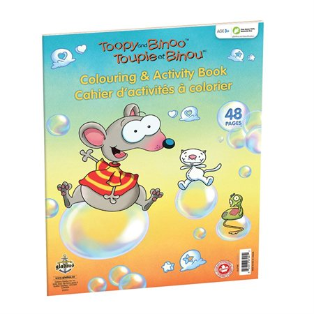 """Cahier d'activités à colorier """"Toupie et Binou"""""""