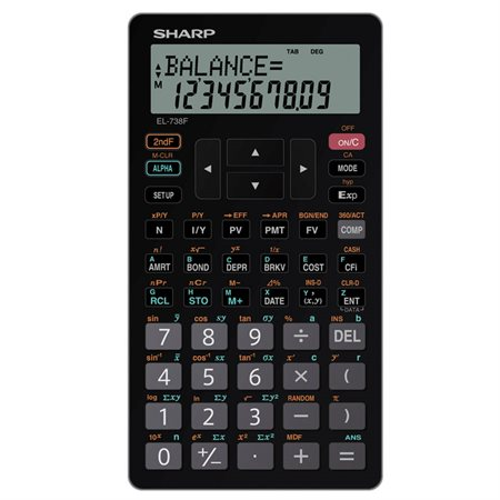 EL-738FC Financial and Scientific Calculator
