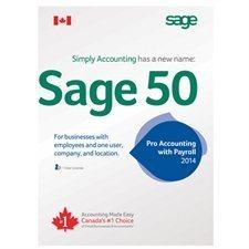 """Logiciel de comptabilité """"Sage 50"""" (2014)"""