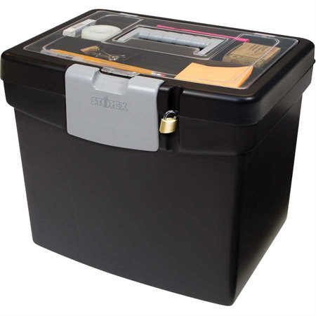 Portable File Box with Extra Storage
