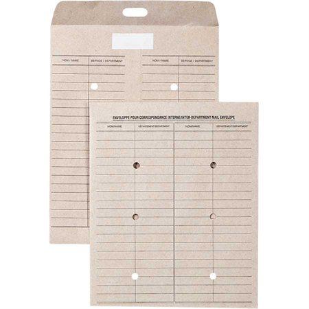 Enveloppe réutilisable pour courrier inter-services