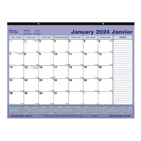 Calendrier sous-main mensuel (2019)