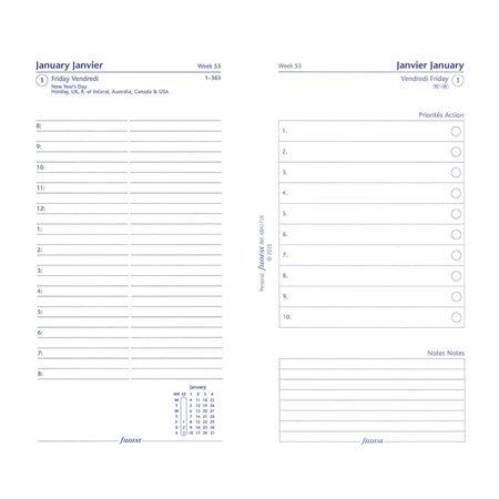 Recharges pour organisateur personnel et compact