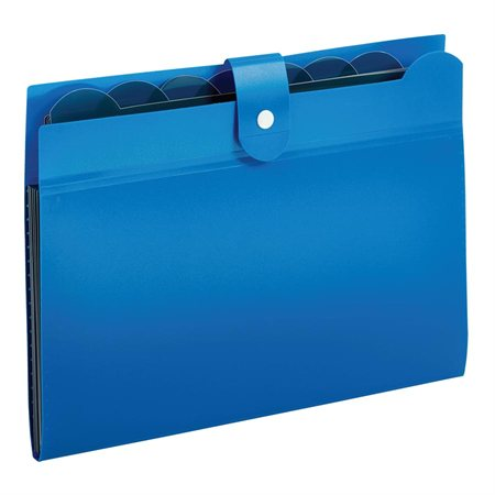 FILE OPEN TOP 7-POCKET  *BLUE