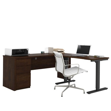 Adjustable Computer Table With Credenza