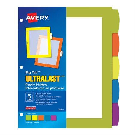 Big Tab™ Ultralast™  Plastic Dividers
