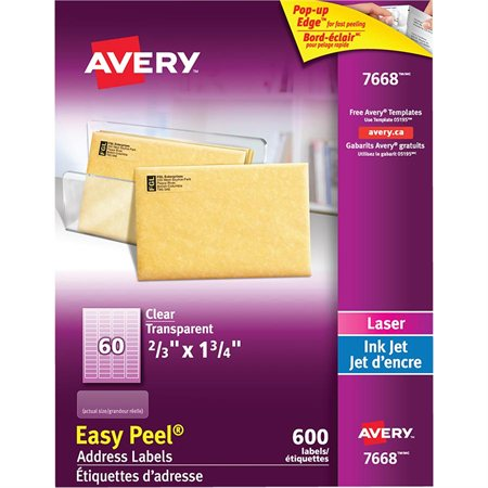 Étiquettes d'adresse transparentes Easy Peel®