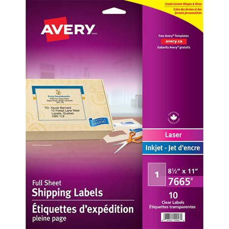 Clear Mailing Labels