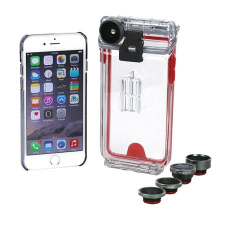Trousse boîtier avec lentilles de caméra pour iPhone 5 / 5s