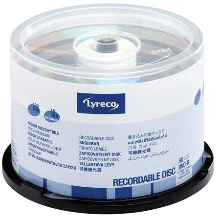 Disque inscriptible DVD-R 16x Lyreco