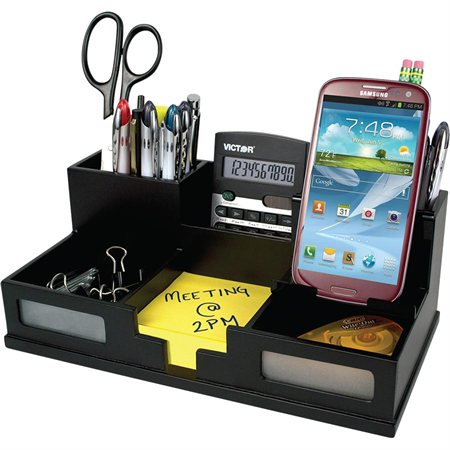 Midnight Desk Organizer with Smartphone Holder