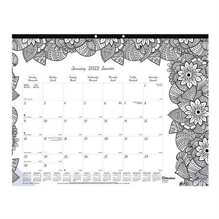 Calendrier sous-main mensuel DoodlePlan™ (2019)