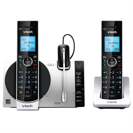 DS6771-3 Connect to Cell™ 2-Handset Cordless Phone with Headset