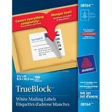 TrueBlock™ White Mailing Labels