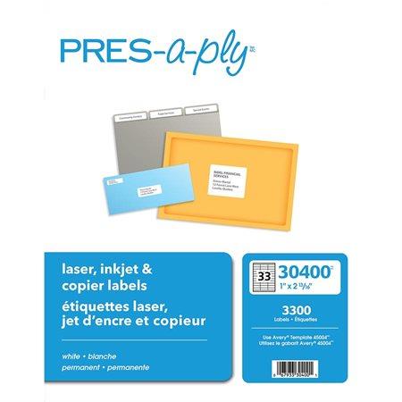 Étiquettes PRES-a-ply pour photocopieur