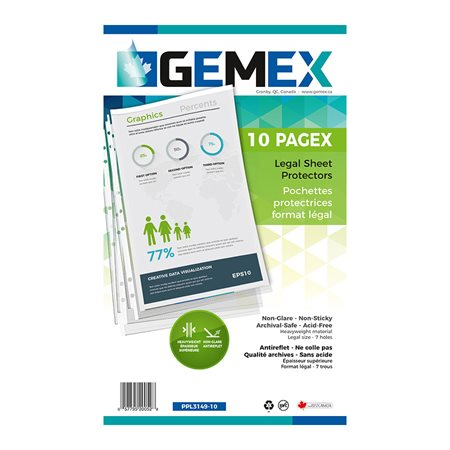 Pochette protectrice transparente Pagex™