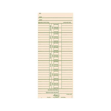 Cartes de temps 39FR
