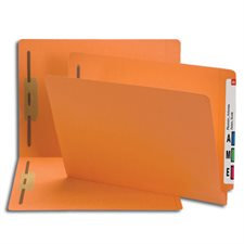 Colored End Tab Fastener Folders with Shelf-Master® Reinforced Tab