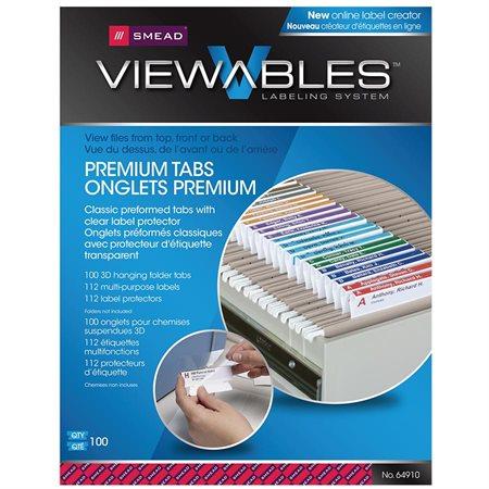 Ensemble d'onglets et d'étiquettes pour chemises suspendues Viewables® 3D Premium