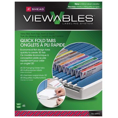 Ensemble d'onglets et d'étiquettes pour chemises suspendues Viewables® Quick-Fold