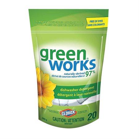 Capsules de détergent pour lave-vaisselle Green Works®
