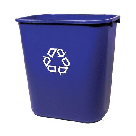 Poubelle de recyclage côté bureau