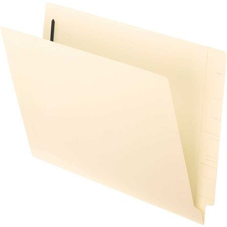 End Tab File Folder with Fastener