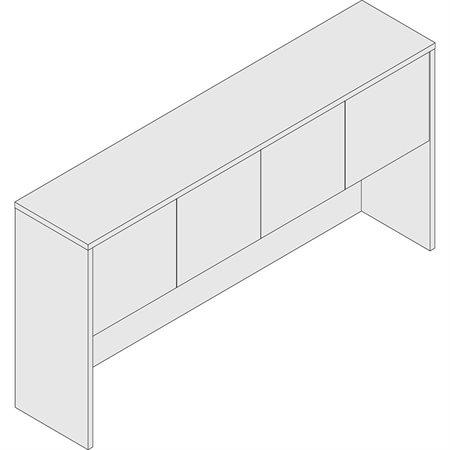 """4-Door Hutch 66 x 15"""" mahogany"""