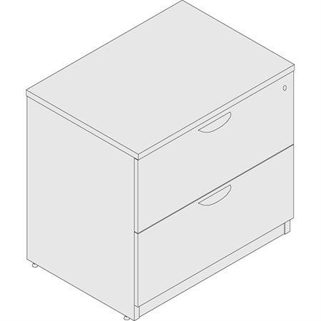 2-Drawer Lateral File espresso