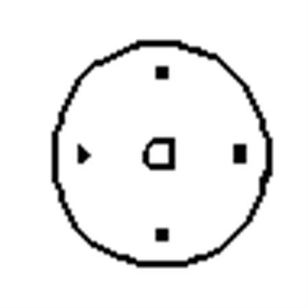 """Plaque ronde de 4"""""""