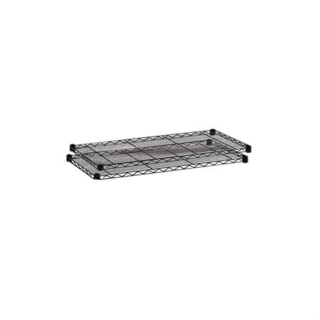 "ADD.WIRE SHELF 36X18X1"" BLACK @2"