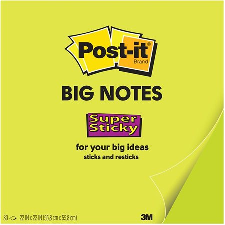 POST-IT B-NOTE 30sh 22x22 N.GR